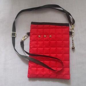 Shoulder bag with adjustable satin strap